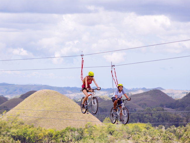 The Rush Bike Zipline