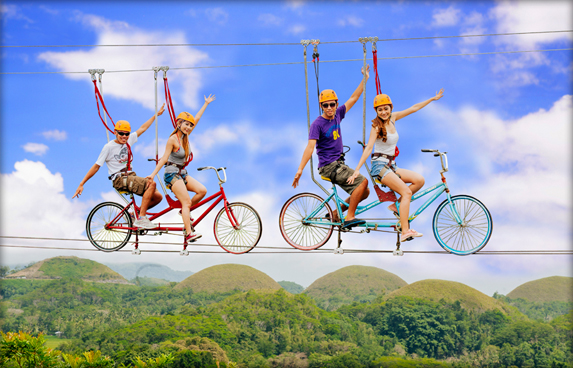 The Rush Bike Zipline (Tandem)